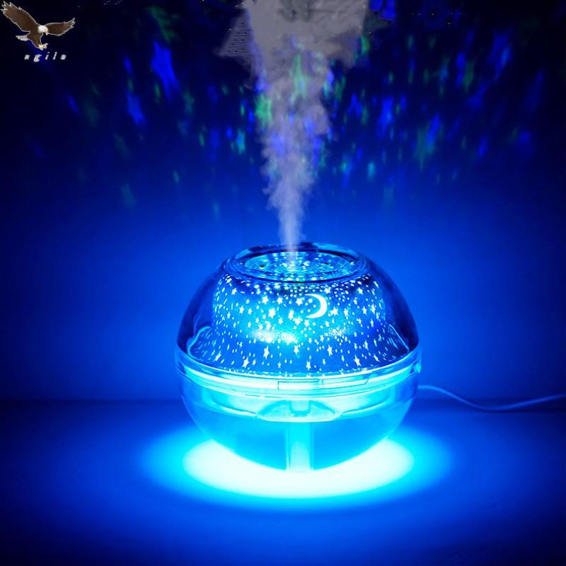 Blue Water Crystal Night Light Projection Usb Charging Air Humidifier(silver)a99 By Agila General Merchandise.