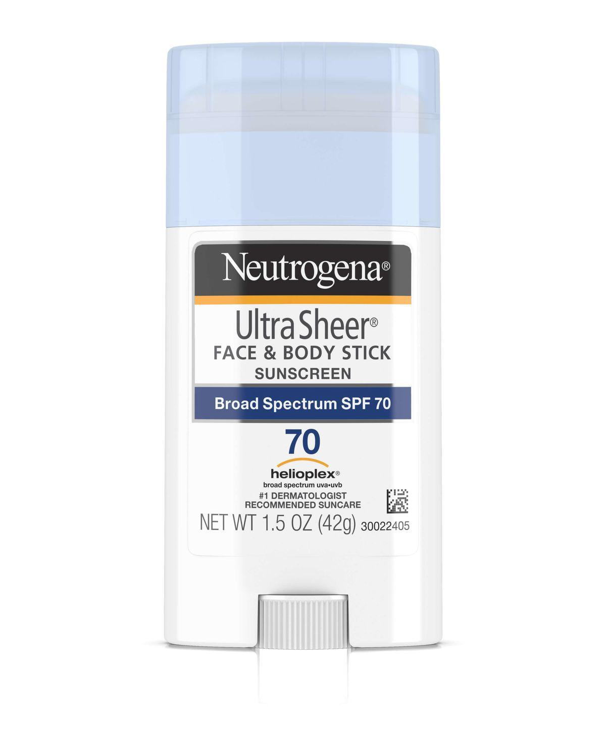 Neutrogena Ultra Sheer Face + Body Stick Sunscreen Broad Spectrum SPF 70