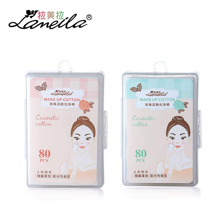Lameila 80pcs Cosmetic Lint Free Cotton Square Pads B0169 Philippines