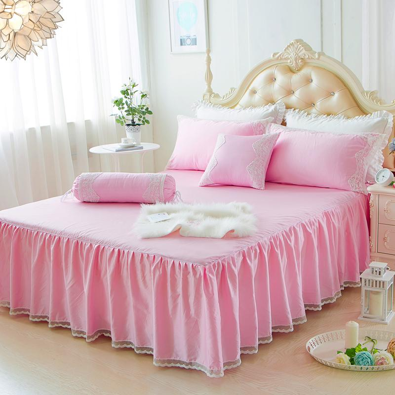 c113434c70 Bed Skirt One-Piece Bedspread Pure Cotton 1.5m 1.8 M Mattress Cover Anti-