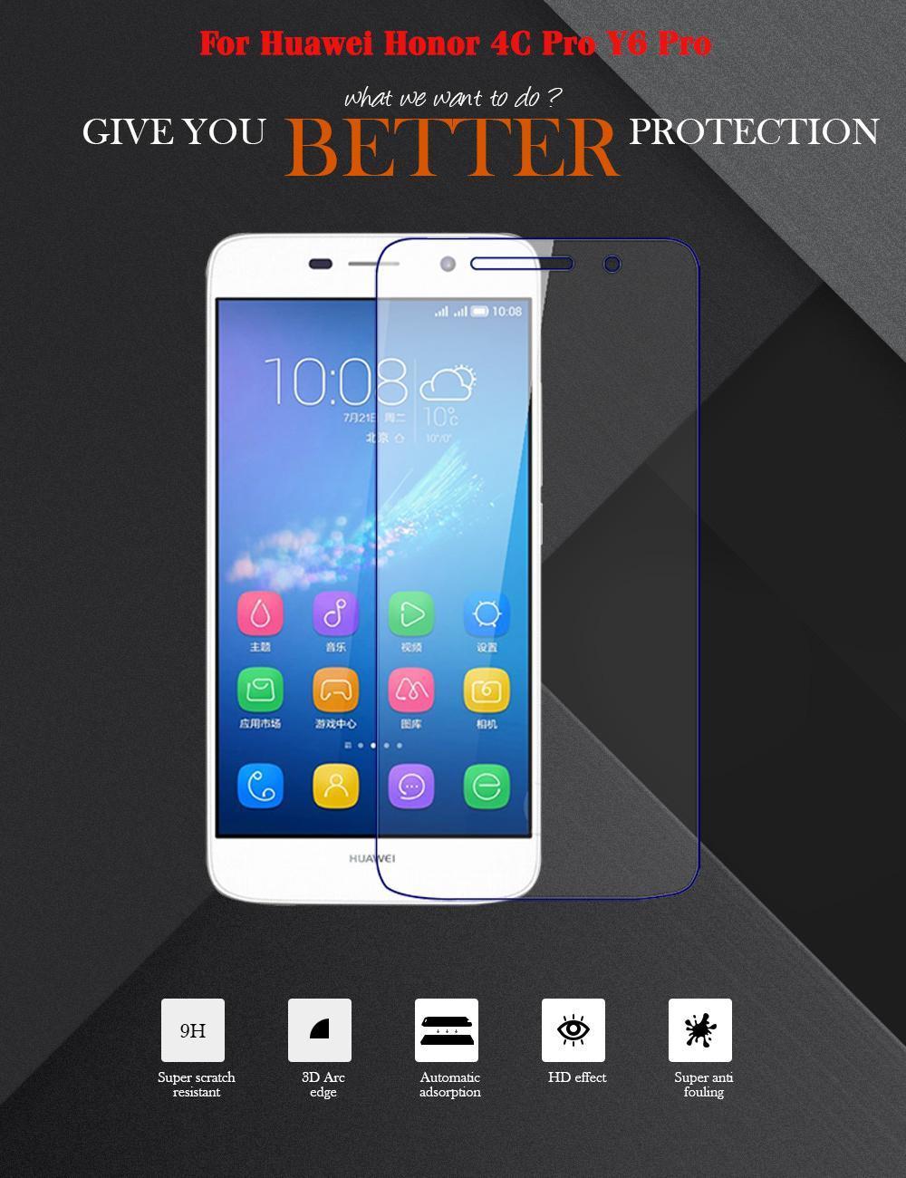 AKABEILA 2PCS Smartphone Tempered Glass For Huawei Honor 4C Pro TIT-AL00 Y6  Pro TIT-L01 TIT-U02 Enjoy 5 Honor Holly 2 Plus TIT U02 L01 Honor4C Pro 5 0