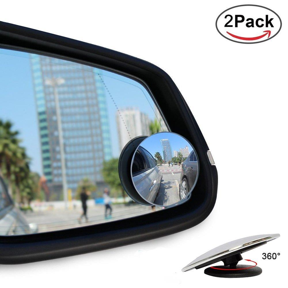 2x Blind Spot Adjule Alloy Wheels Stick On Mirror