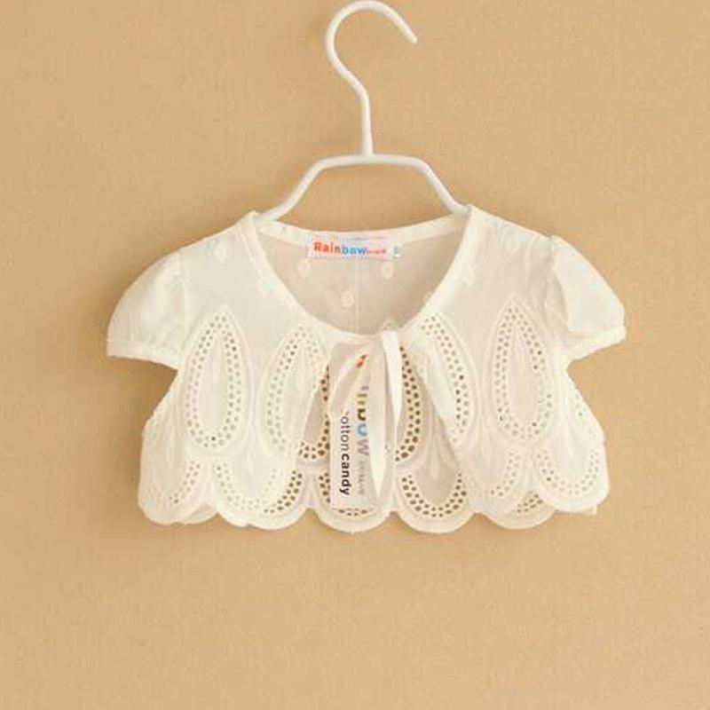 17dda8120b7 Girls  Shawl Jacket White Short Pure Cotton Children s Sun Protection Clothing  Children Outdoor Baby Waistcoat