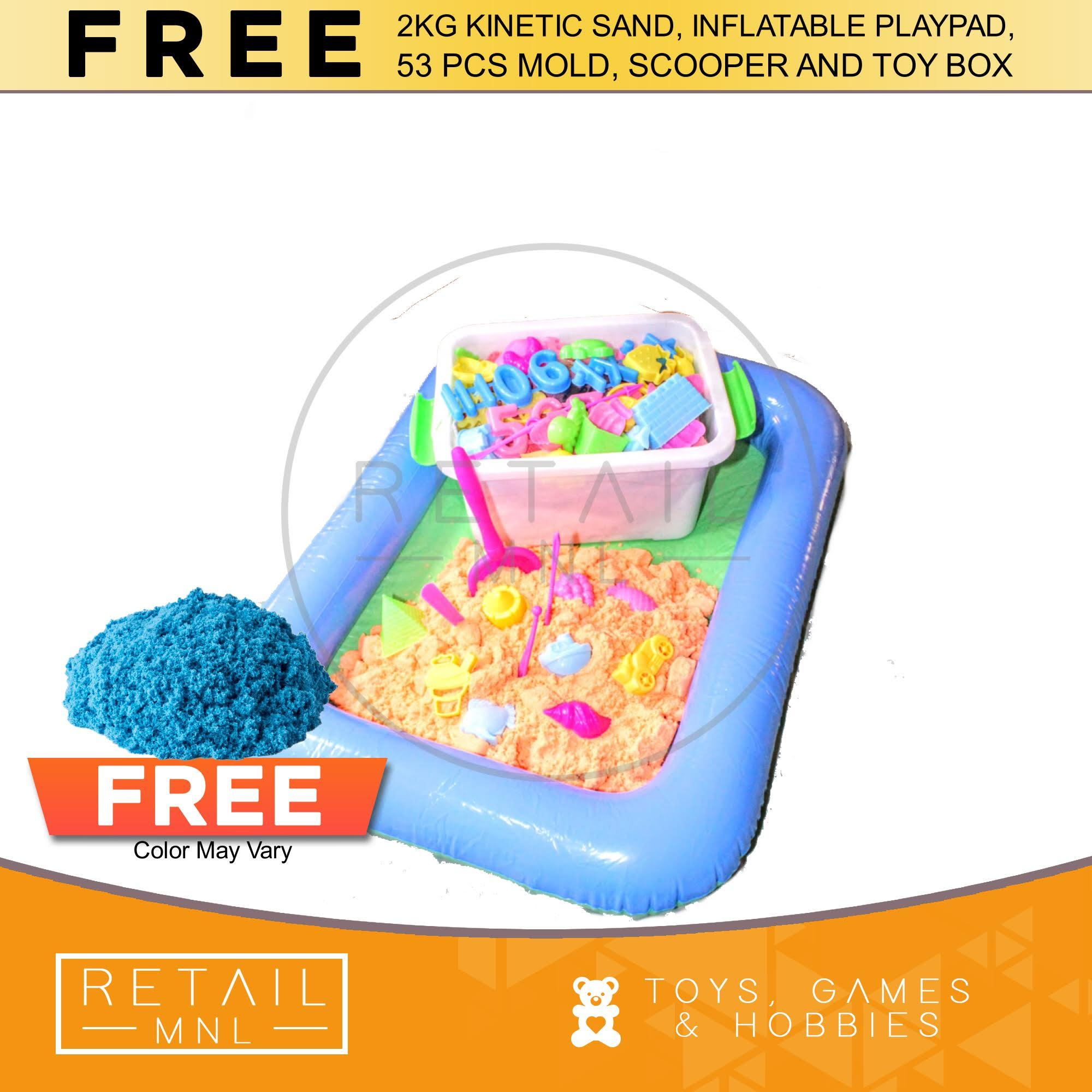 Retailmnl Kinetic Motion Sand Playset With Molds And Inflatable Pool By Retail Mnl.