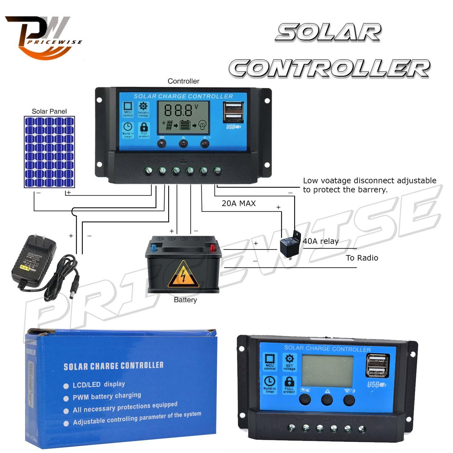 Solar Philippines Price List Led Light Set For Sale Lazada Christmas Lights Circuit 555 Aquarium Lighting Allpowers 10a Charger Controller Panel Battery Intelligent Regulator With Usb Port Display 12v