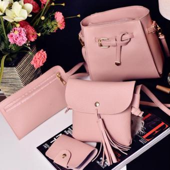 UISN MALL Korean Leather Shoulder Bag Sling bag 4 in 1 #401