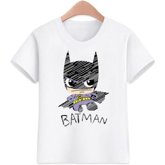 3 to 16 yrs. old Batman Design for Girls T-Shirts Cotton Short Sleeve Kids Tops Tee T-Shirts