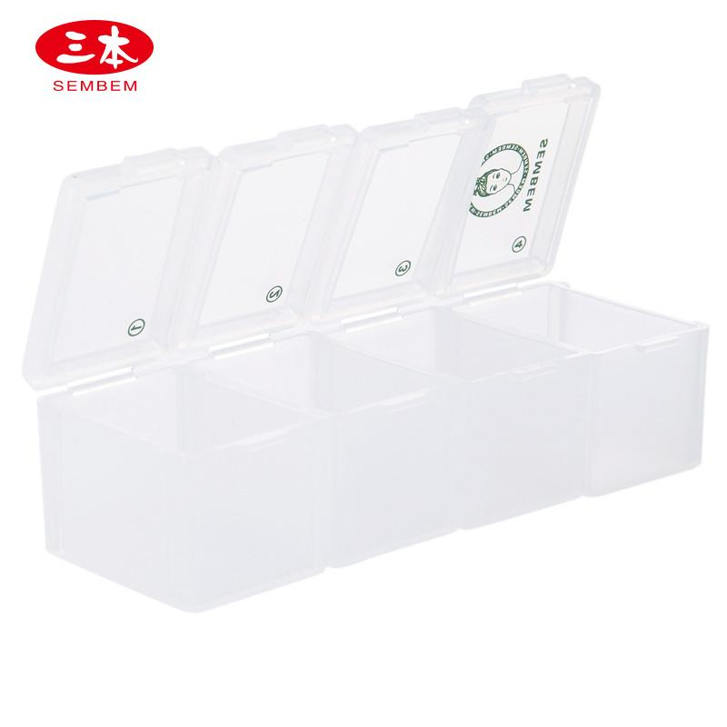 SEMBEM Connection-Mode 4 Lattice Box Travel Parts Separately Packed Case Portable Transparent Seal Accessories Storage Separately Packed Case Philippines