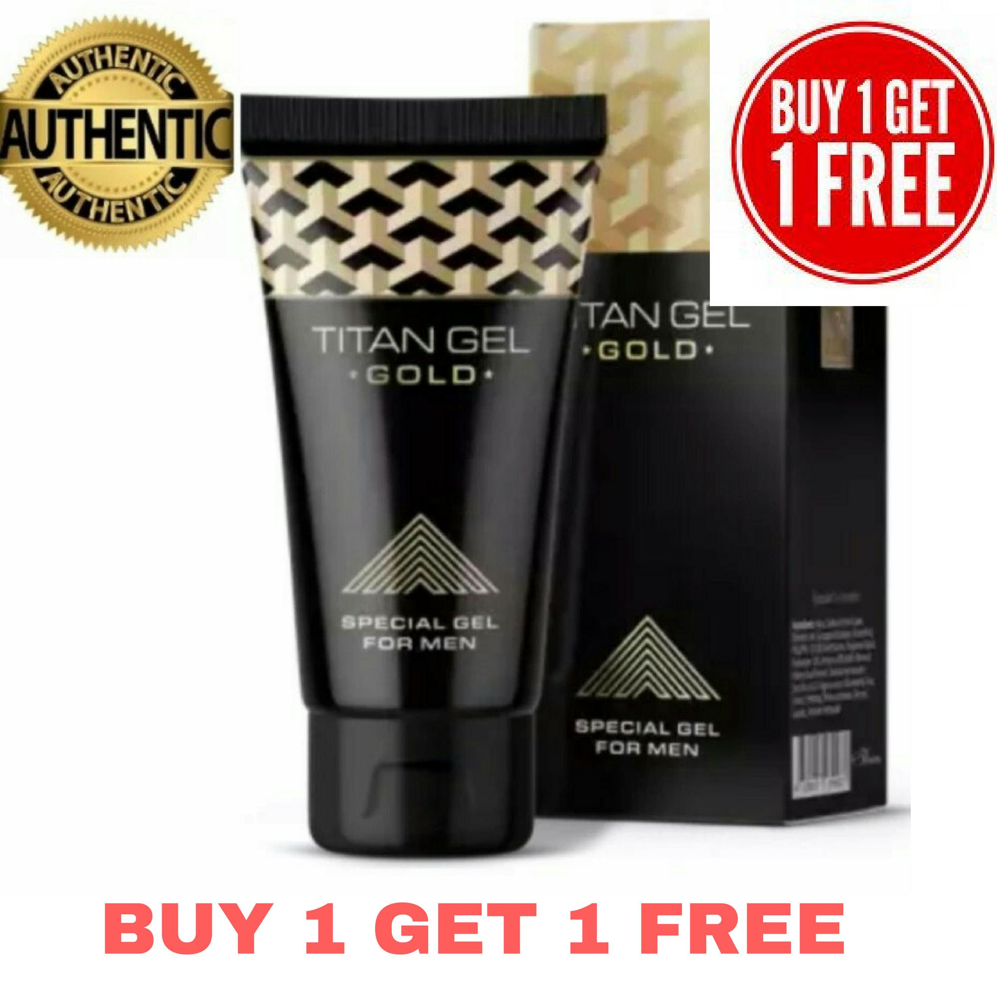 Authentic Titan Gel Gold For Men(buy 1 Get 1 Free) By Aj Wellness Supply.