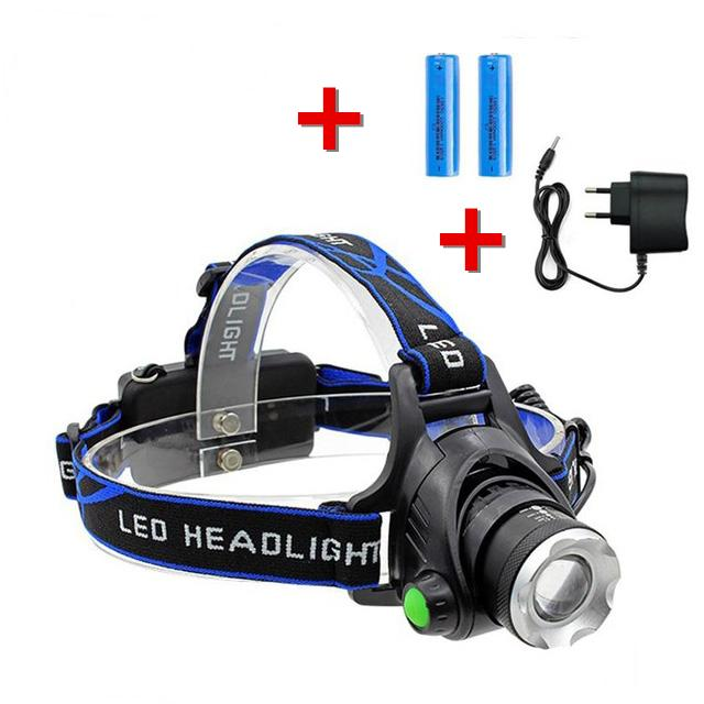 U-Like Outdoor Waterproof Led Headlamp Rechargeable Head Lamp Helmet Flash Light Flashlight For Camping, Running, Outdoor Fishing, Hiking And Reading By U-Like.