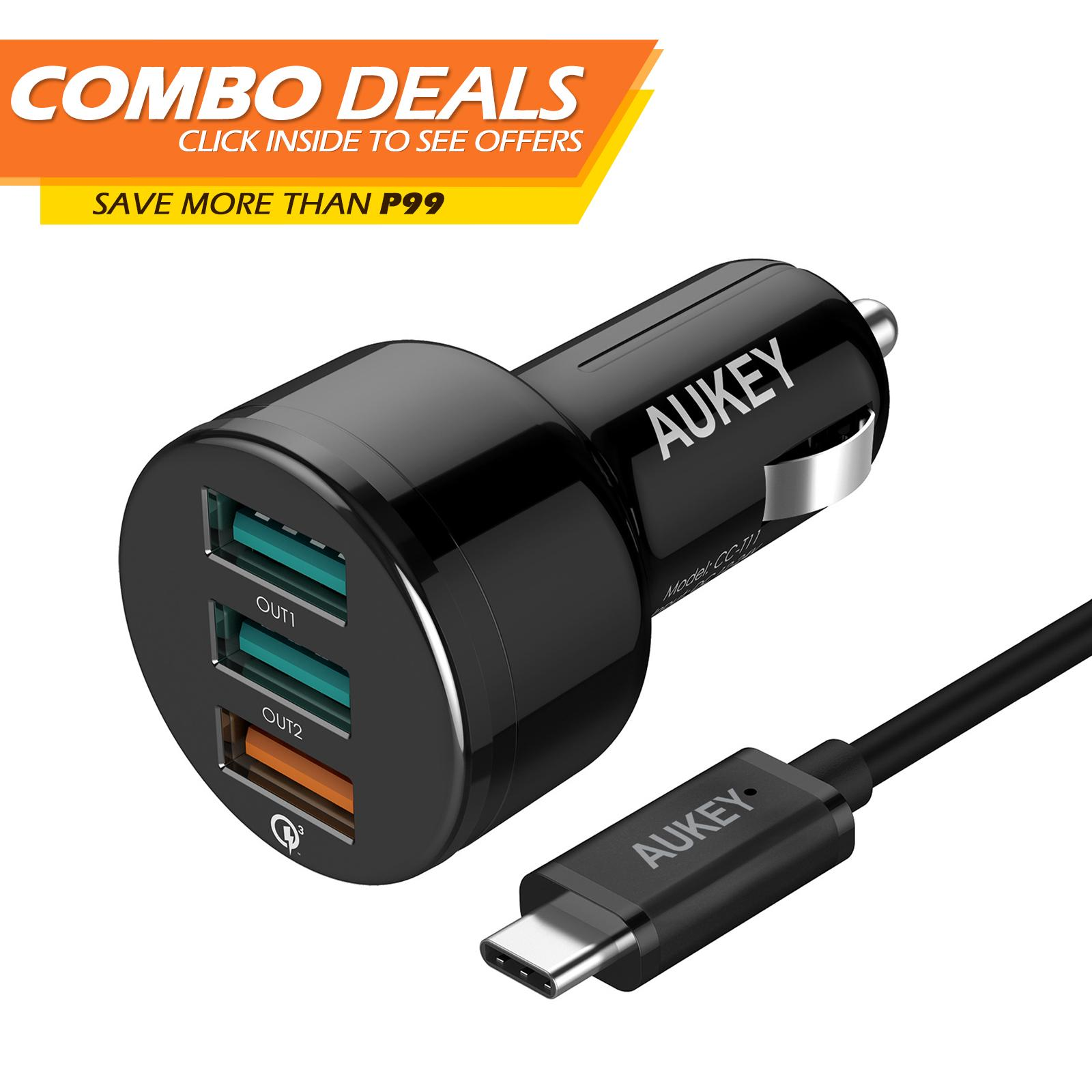 Buy Sell Cheapest Aukey Storewired Usb Best Quality Product Deals Cb D5 Micro 5 Pack Original Kabel Data Cc T11 3 Ports Car Charger With Qualcomm Quick Charge 30 And Aipower For Samsung Galaxy S8 Plus S9
