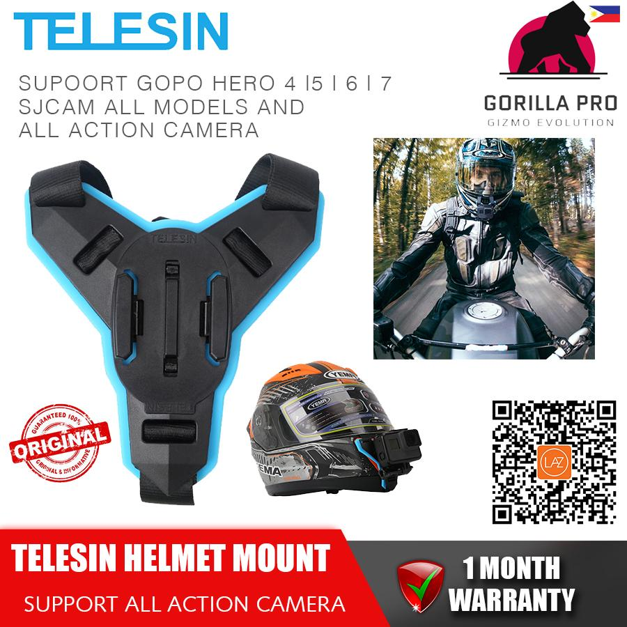 (ORIGINAL TELESIN) Motorcycle Chin Helmet Mount Action Camera Strap Mount Front Chin Mount for
