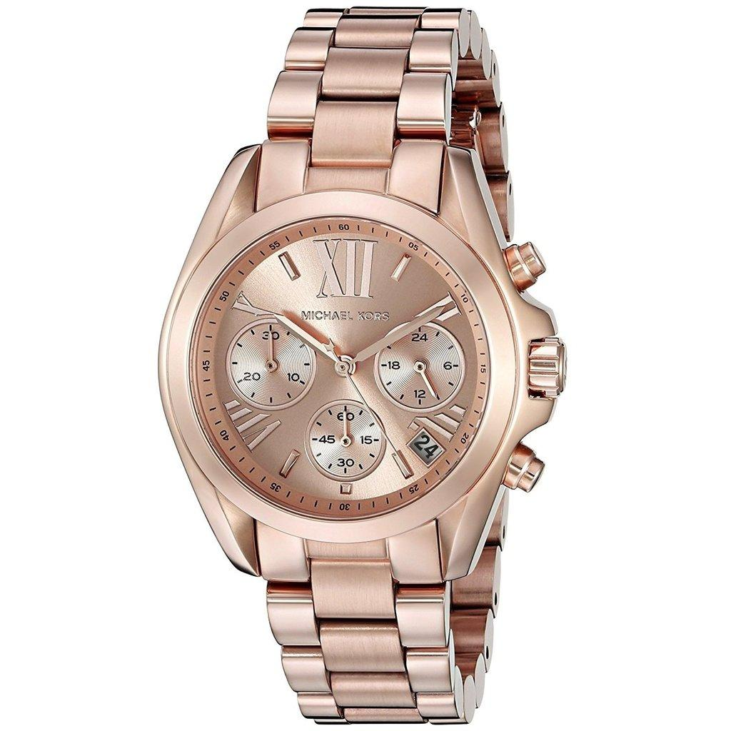 8f761418690 MK Michael Kors Mini Bradshaw MK5799 (Rose Gold) Stainless Steel Strap Watch  for Women