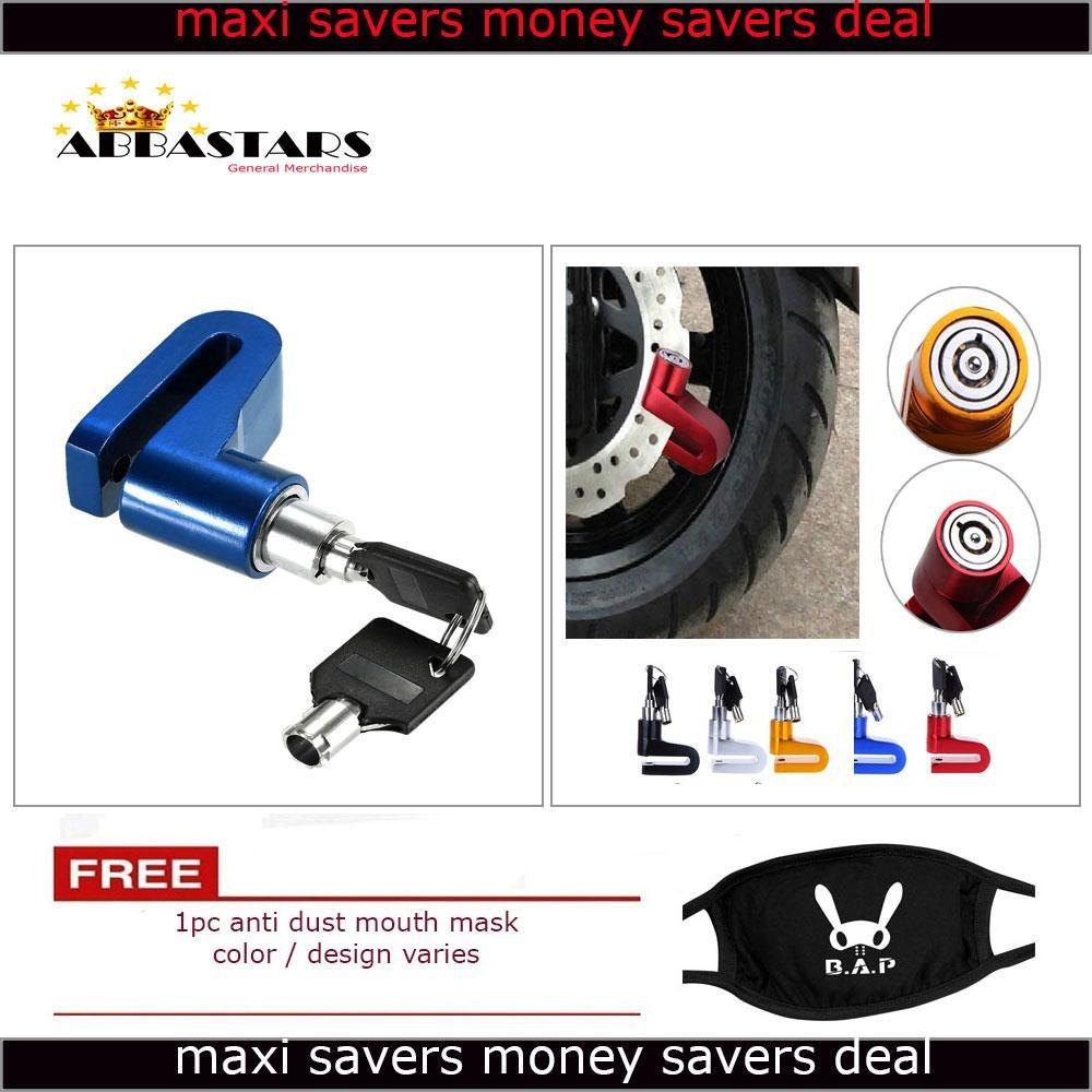 Motorcycle / Bike Anti - Theft Disk Brake Lock Waterproof Wheel Blue  RotorLock Cylinder for Kymco Agility RS 125 LED