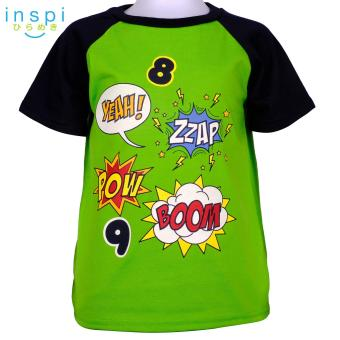 INSPI Kids Boys Patches (Green) tshirt top tee t shirt for boys shirts clothing clothes