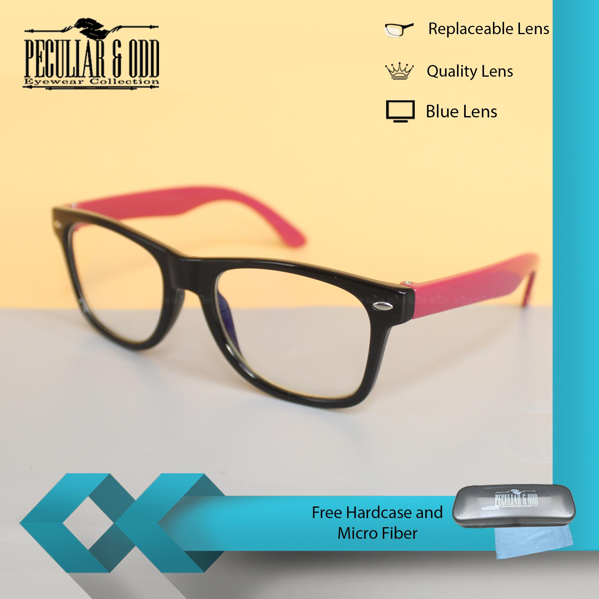 Peculiar Kids Square 901 BlackPink Multicoated Anti Radiation   Gaming    Gadget   Computer Blue Lens Clear bbdfc6749937