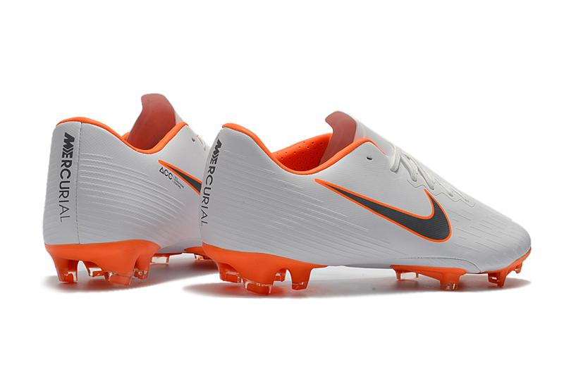 8f7b3658995 Specifications of 2018 New Football Boots Original Knit Men s Soccer Shoes  XII 12 CR7 PRO FG Cleats Football Shoes Grey Orange Size 35-45