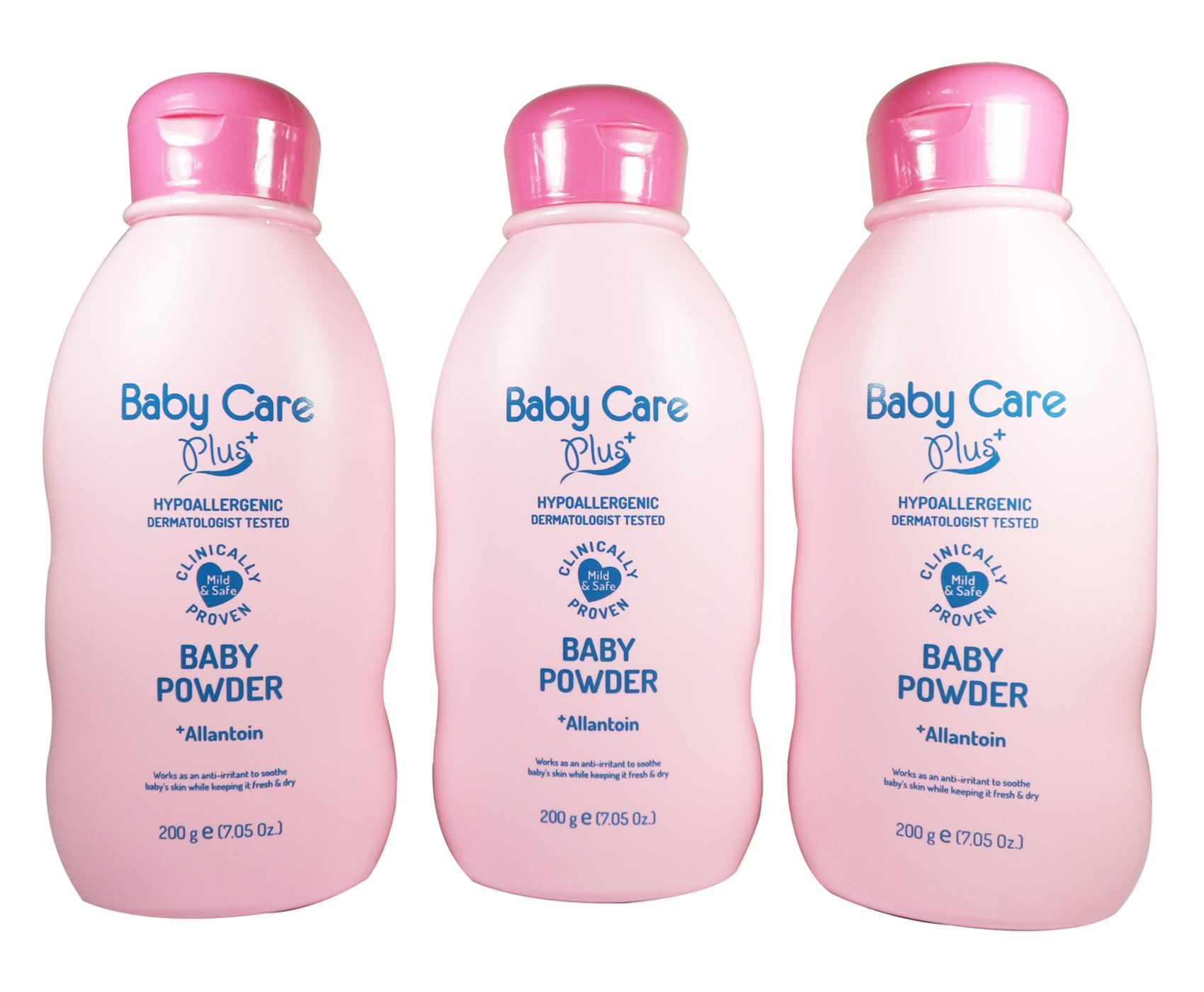 Baby Care Plus Baby Powder Pink with Allantoin Set of 3 200g