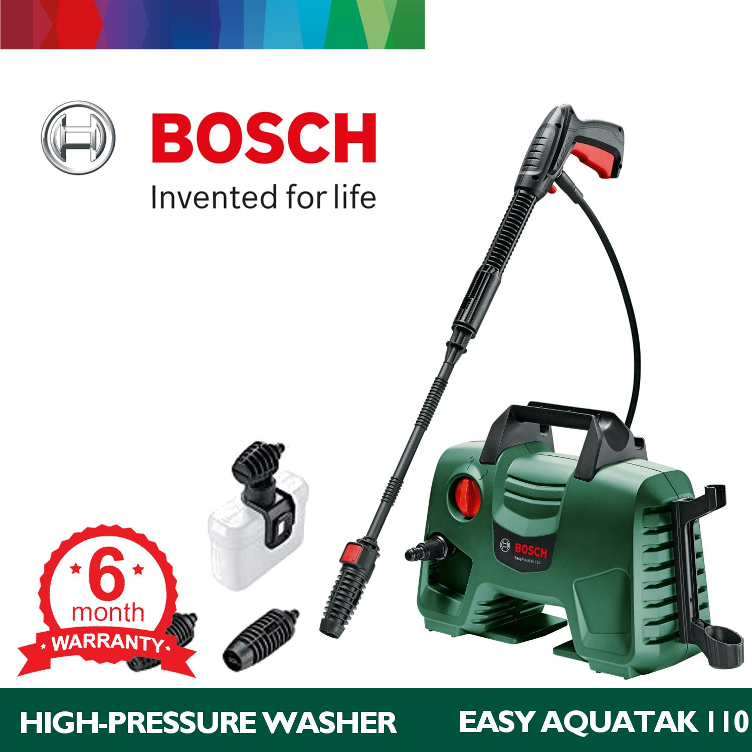 Bosch Easy Aquatak 110 Portable High Pressure Washer with Gun and Lance Nozzle and Car Wash Set NEW MODEL 2018 Philippines