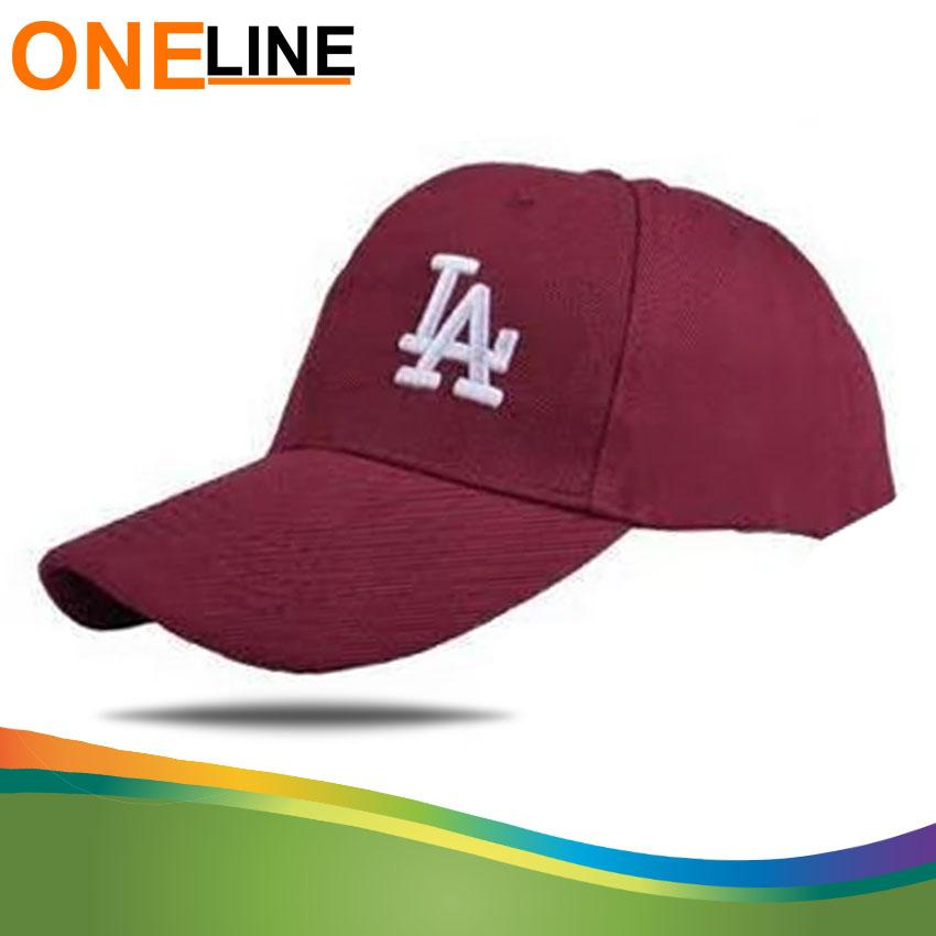 Oneline LA letter Baseball Caps Embroidery Black Hip Hop Bone Hats f6e11c289078