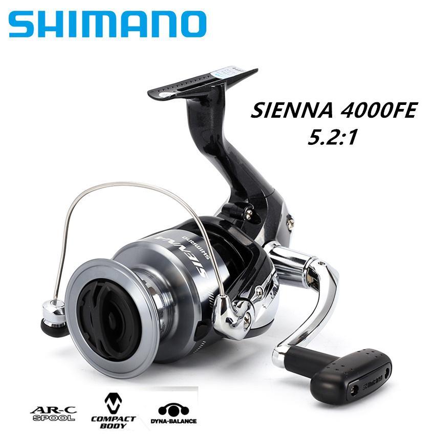 1 Year Warranty Shimano SIENNA 4000FE Spinning Fishing Reel 1+1BB Front  Drag XGT7 Body Saltewater Carp Fishing Reel(Sea Fishing) [100% Original]