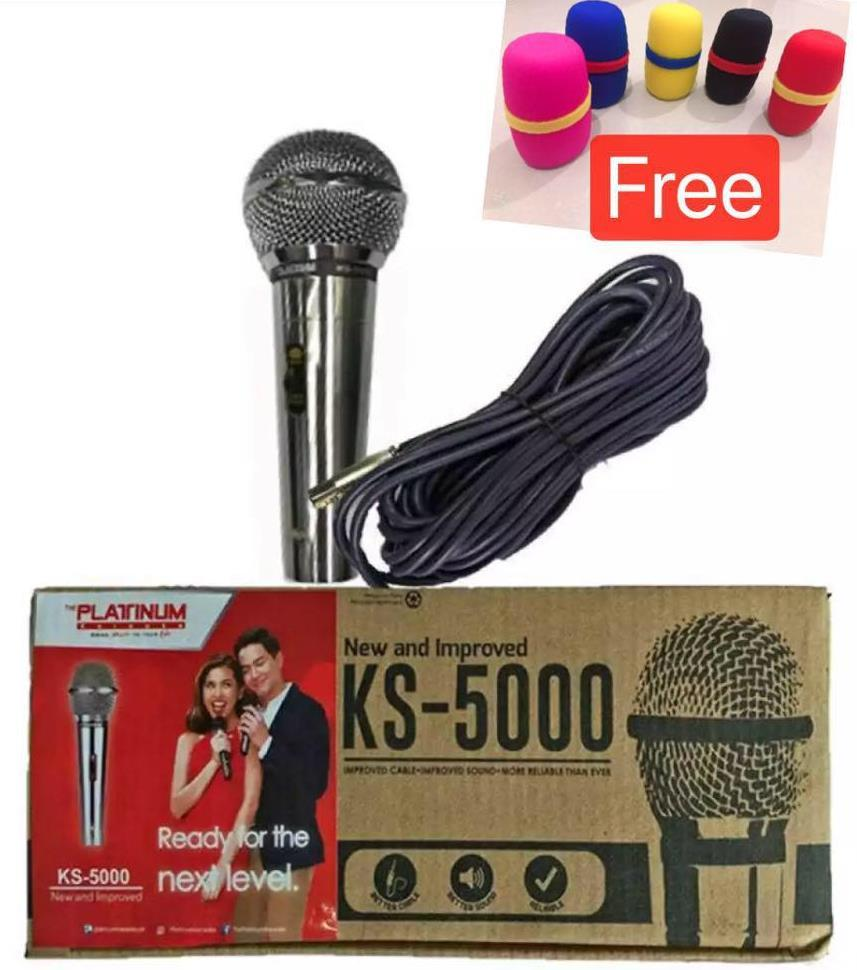 The Platinum KS-5000 Wired Microphone with 1 pc Mic Faom