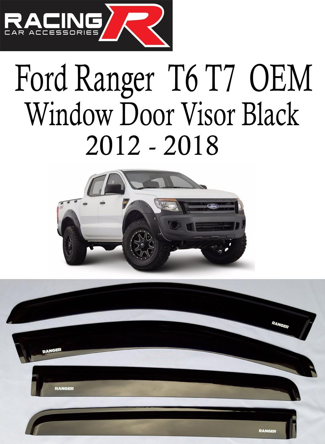 Ford ranger t6 and t7 2012 to 2018 oem black window door visor made in