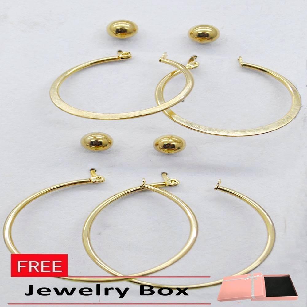 Glamorosa 4 In 1 Set Earrings Stainless Gold