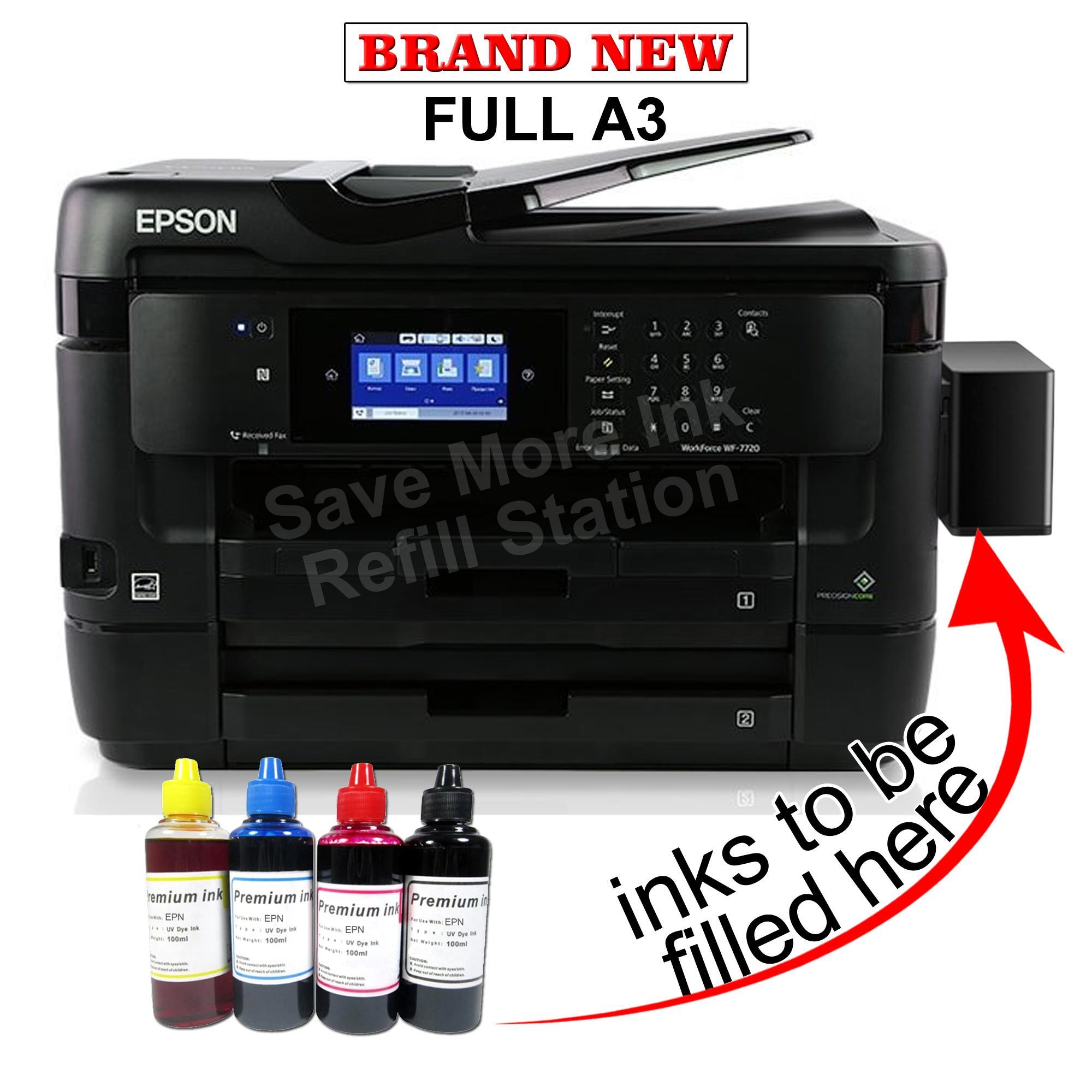 Epson WorkForce WF-7720DTWF Printer A3+ Wi-Fi w/ Ciss & inks WF-7720