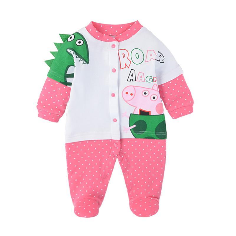 a70db888d19c Infant Jumpsuit Pure Cotton Spring And Autumn Summer Newborns Romper 0-3-6  Month
