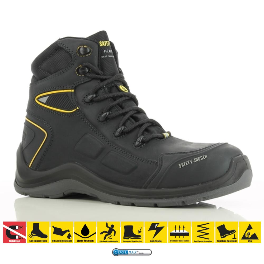 17f0c4842cd Safety Jogger Volcano S3 High Cut Waterproof Shoes Composite Toe Leather  Water proof Safety Shoes Steel Toe Shoes Heavy Duty Work Shoes, Water / Oil  / ...