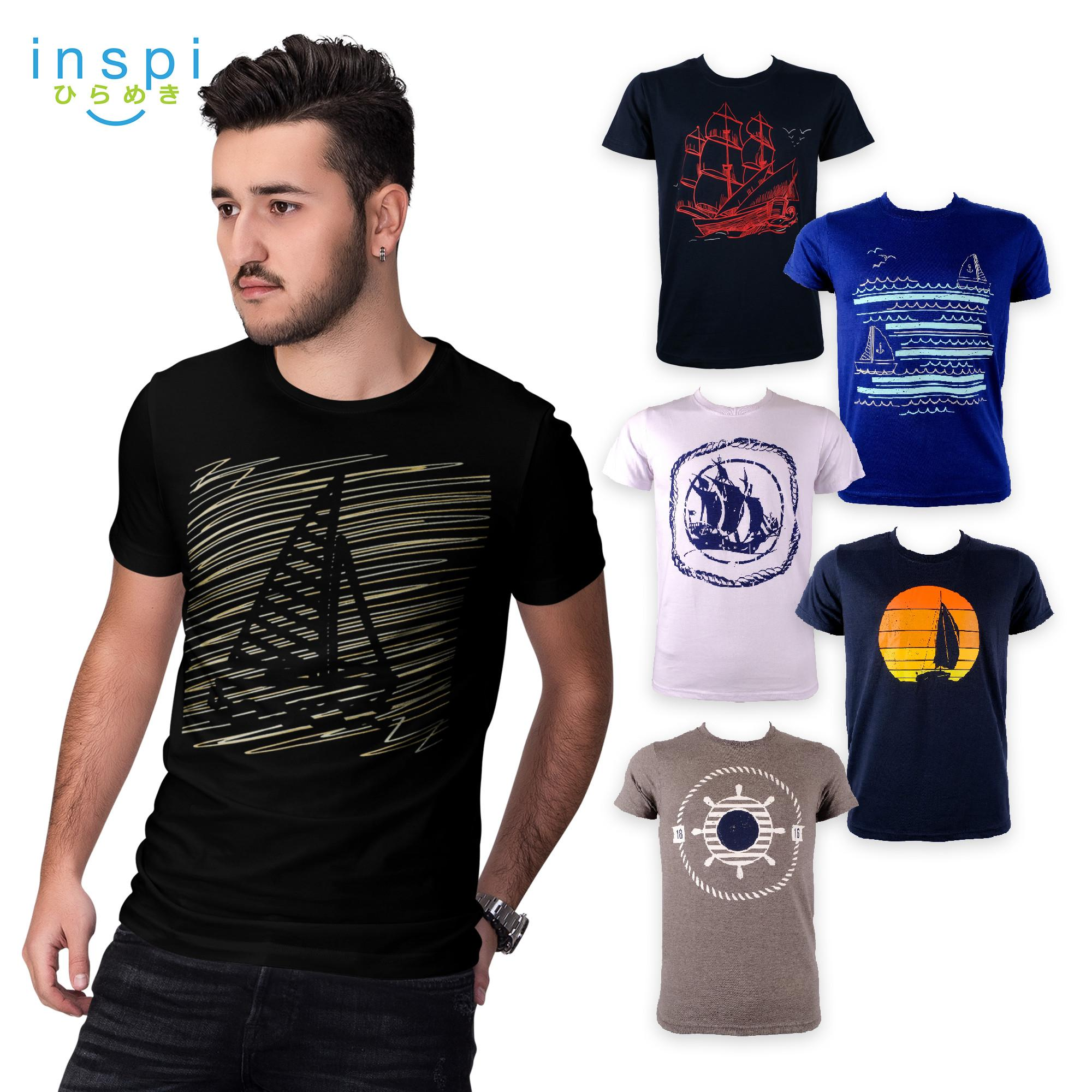 f50ca56c887a INSPI Tees Sailing Collection tshirt printed graphic tee Mens t shirt shirts  for men tshirts sale