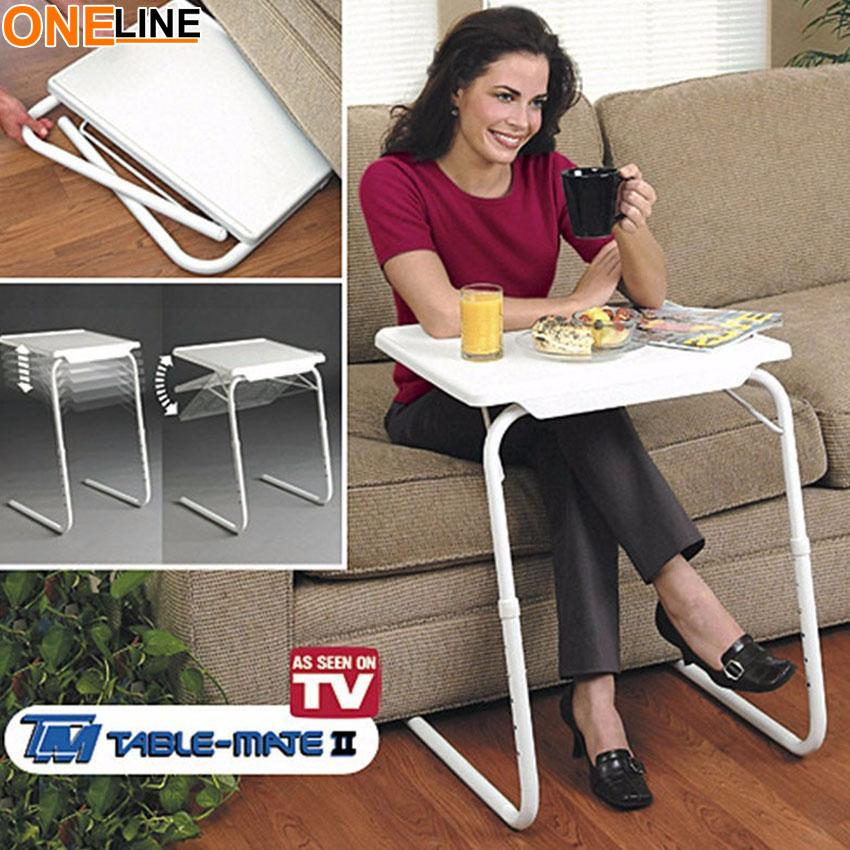 Oneline Adjustable And Foldable Table Multi-Purpose Table Mate Ii (white) By Oneline.