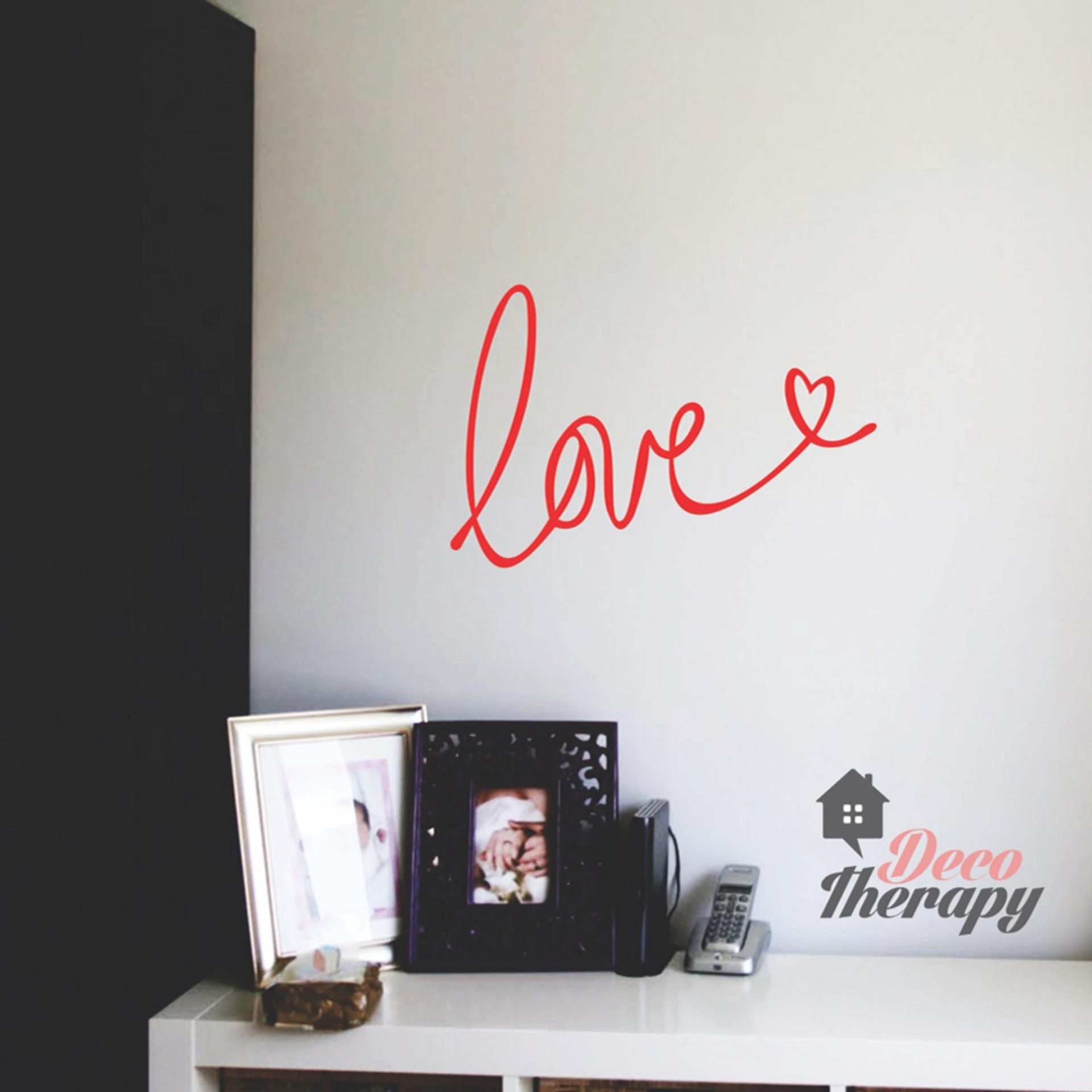 Love With Heart Red Wall Sticker