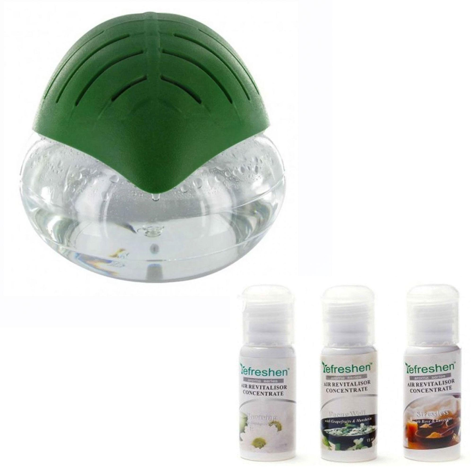 H2o Air Purifier Humidifier And Revitalizer (dark Green) With Humidifier Scent Aroma Series Starter Kit C (white) By Gonzalez General Merchandise.