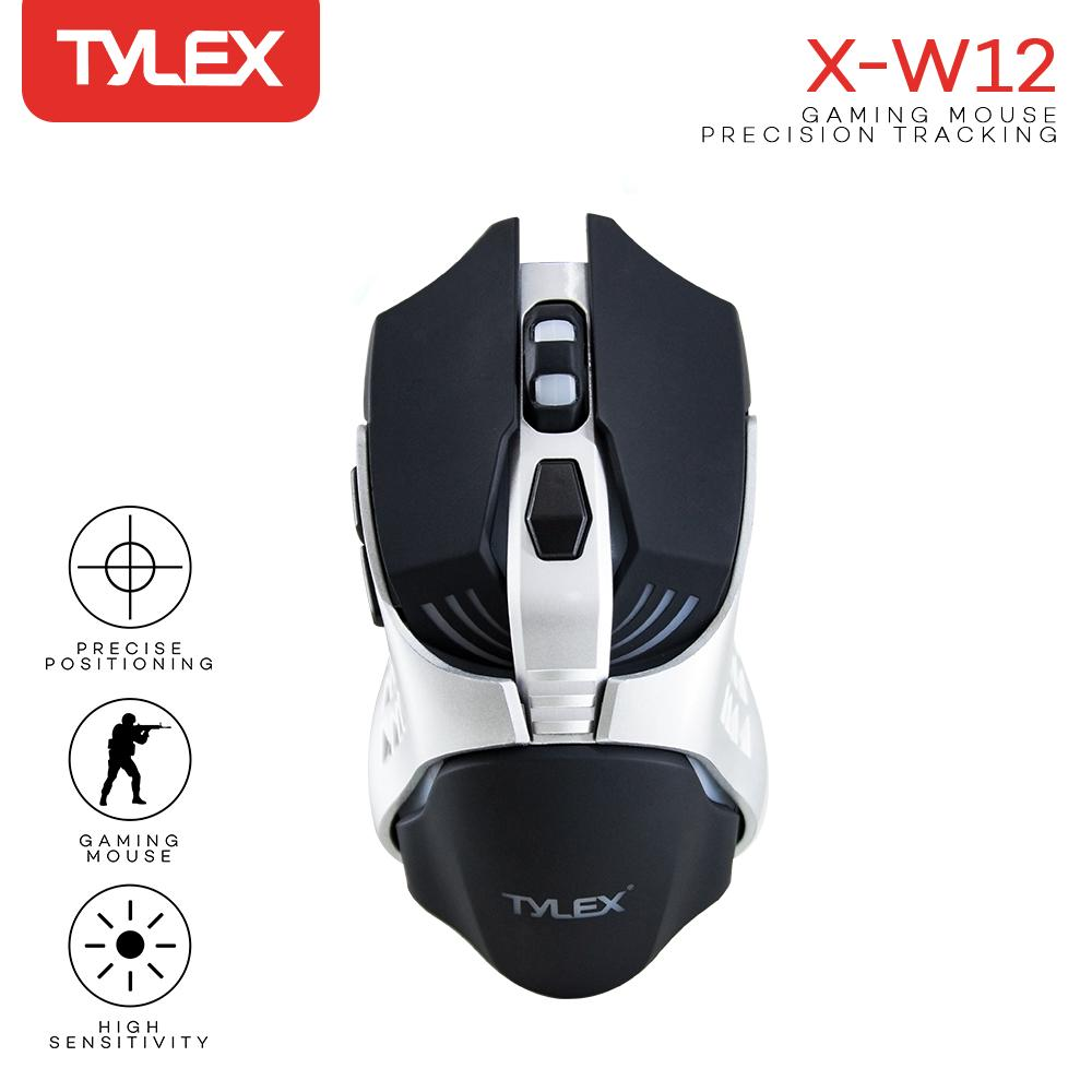 311314c4136 Tylex X-W12 High-Precision 3200DPI Wired LED Gaming Mouse (Silver/Black