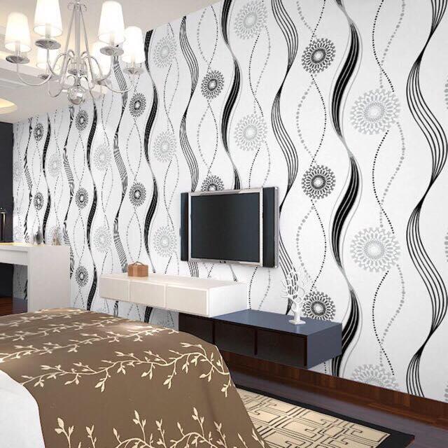Wallpaper Self Adhesive 10metersx45cm Pvc Waterproof Living Room Wall Stickers Dormitory Wall Stickers Bedroom