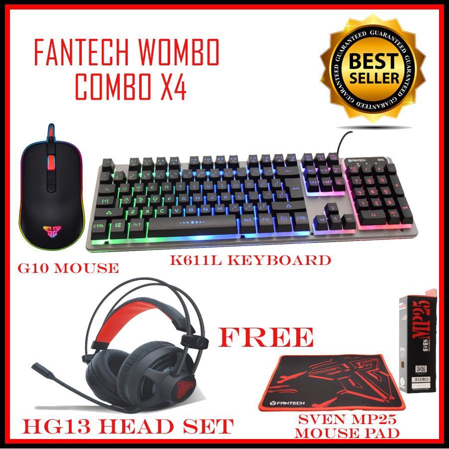 Fantech Mouse Gaming Z1 Speaker Gs733 Mousepad Mp35 Gs 201 Full Wombo Combo X4 Keyboard Headset Free Pad
