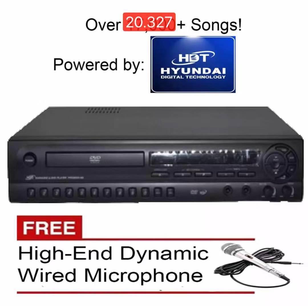 HDT HYUNDAI 98i KARAOKE PLAYER (BLACK) FREE MICROPHONE