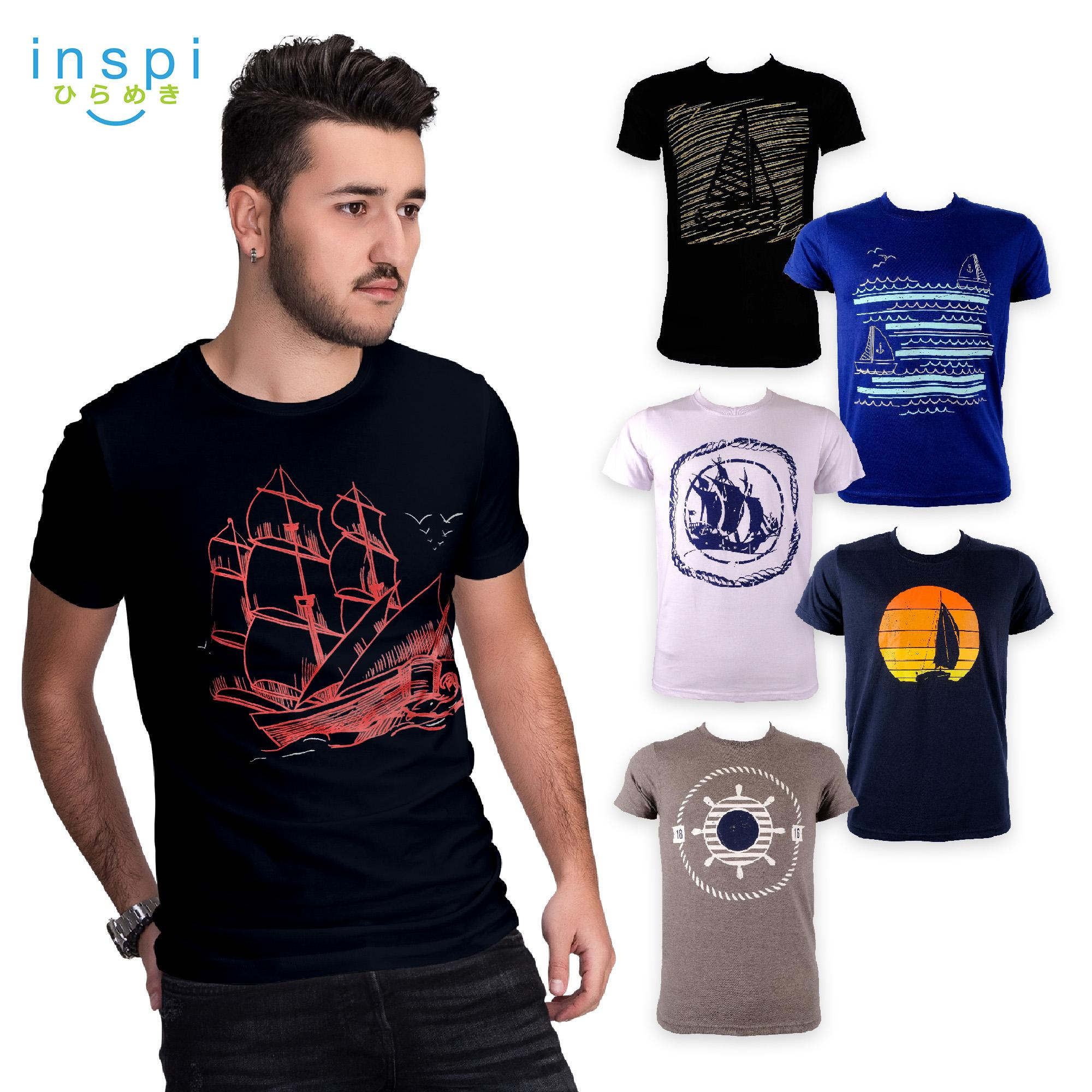 8e6438b1be INSPI Tees Sailing Collection tshirt printed graphic tee Mens t shirt shirts  for men tshirts sale