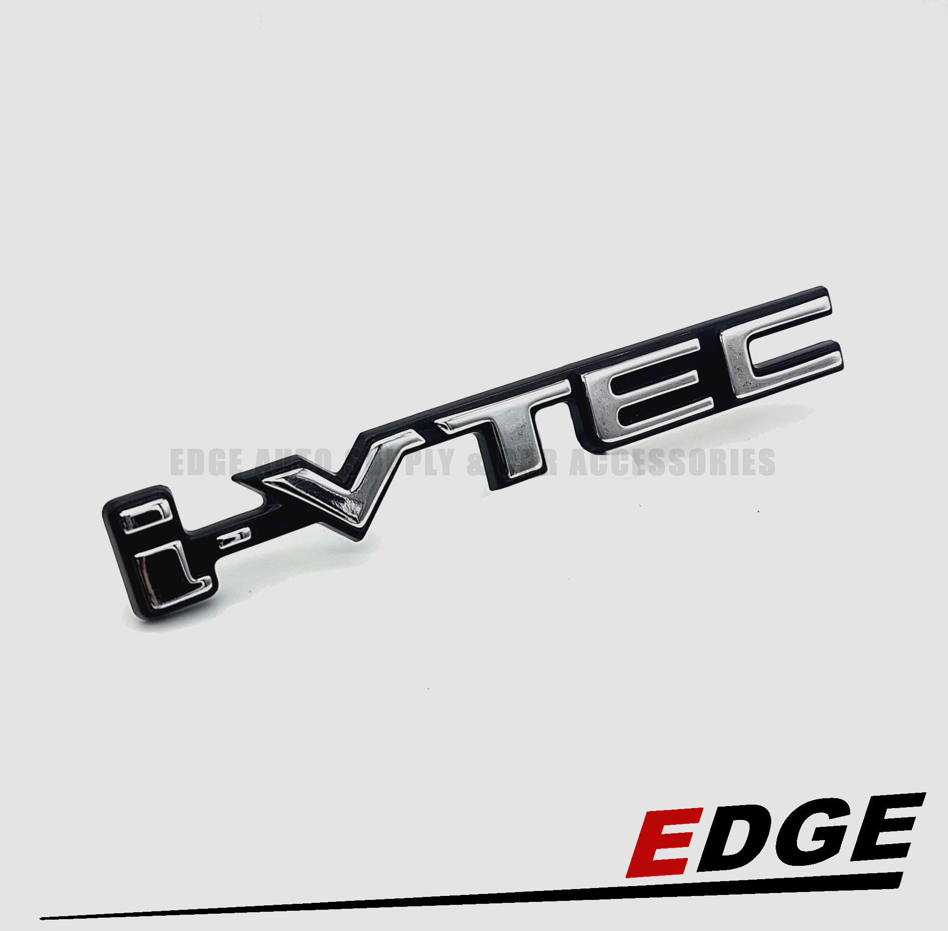 (black/chrome) Honda I-Vtec Word Stick-On Emblem Decal Logo Symbol Sign 3d Honda Motors Rs Rr Vtec Mugen Type Car Displacement Auto Exterior Accessories Trunk Rear Hood Fender Badge Sticker Type Abs Plastic By Edge Auto Supply & Car Accessories.