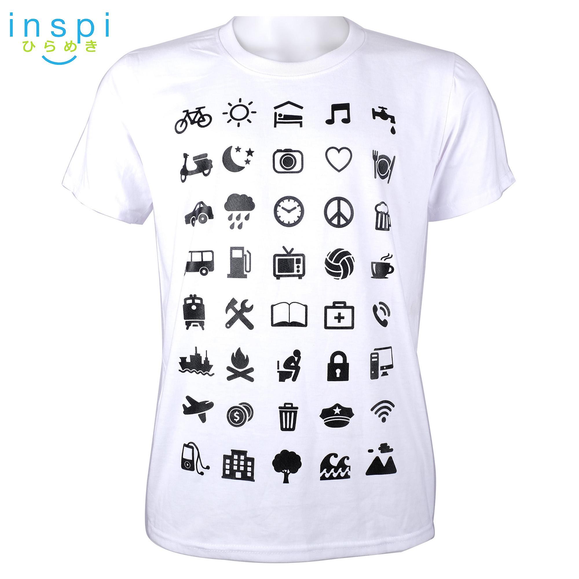 51e64a7dbb3 INSPI Tees Travel Symbols tshirt printed graphic tee Mens t shirt shirts  for men tshirts sale