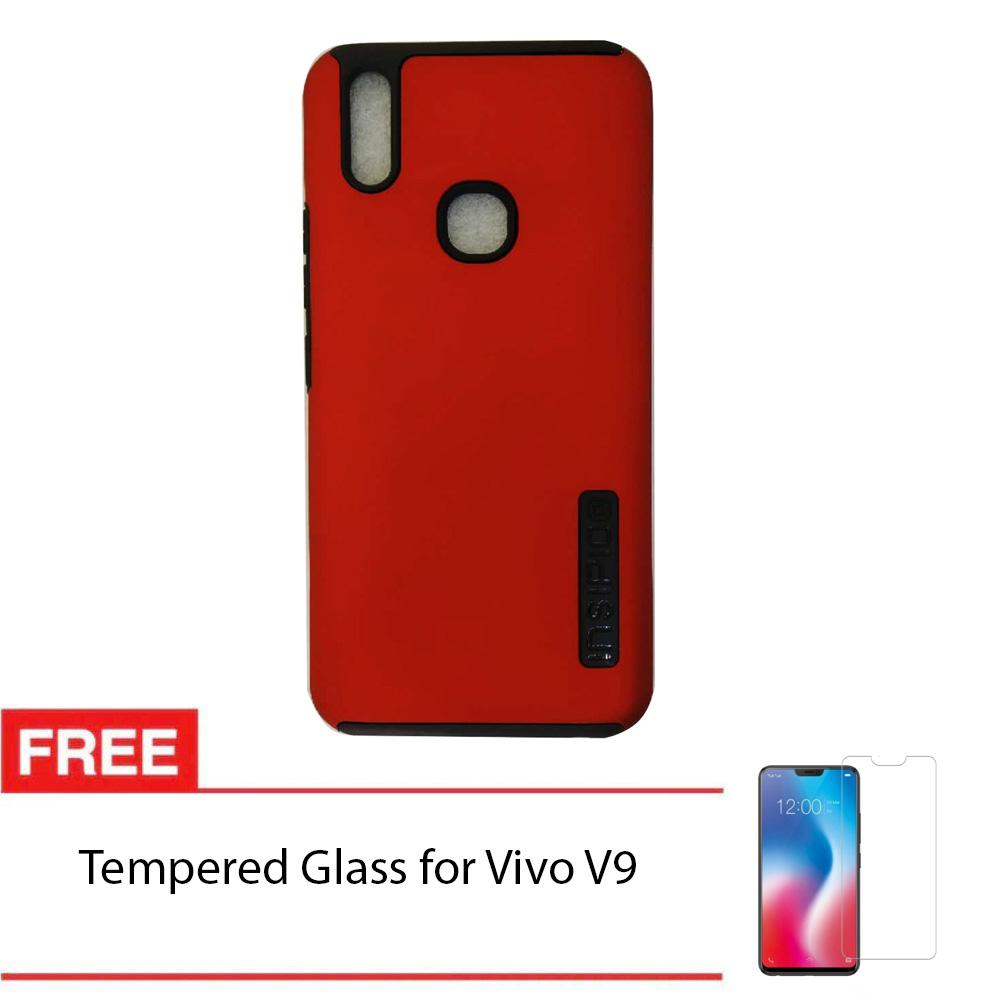 Buy Sell Cheapest Vivo V9 Dual Best Quality Product Deals Red Black Gold Insipio Layer Hardshell Back Case Cover With Free Tempered Glass
