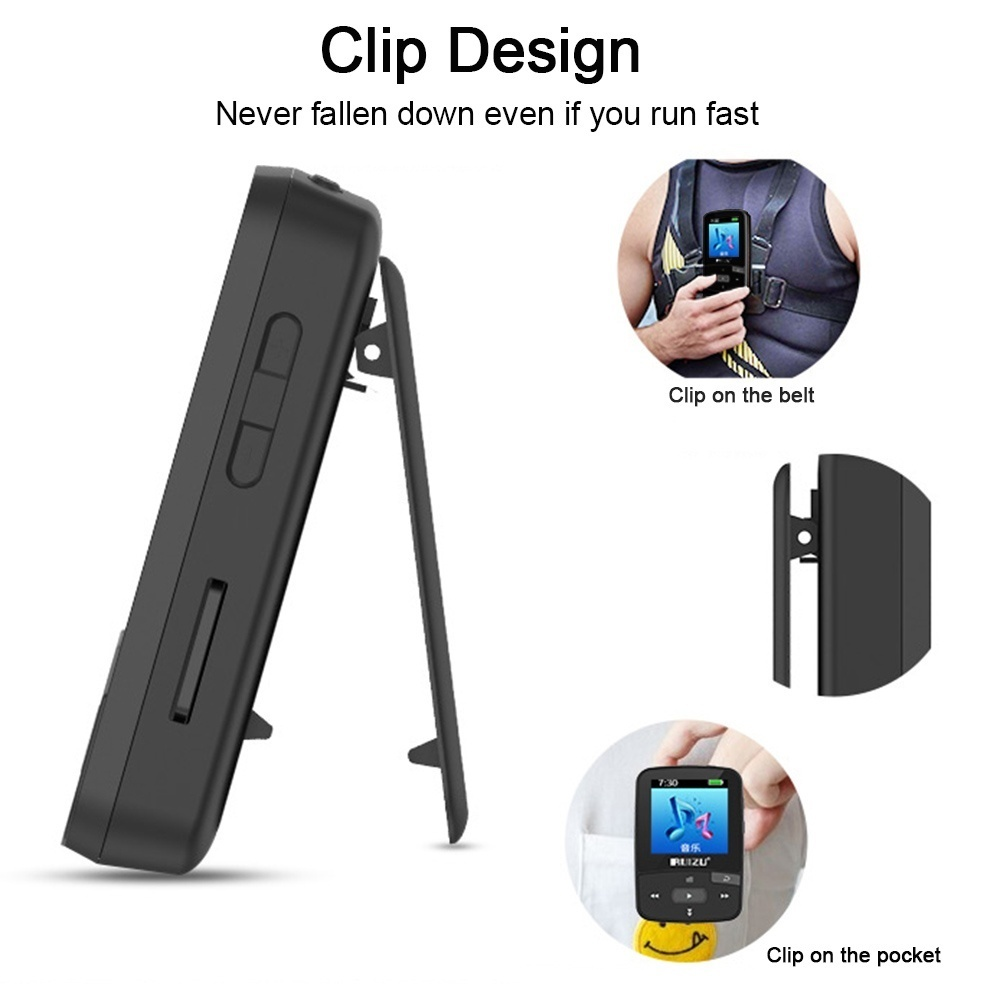 [Hot Sale Countdown 72 Hours Discount] RUIZU X50 8GB 1 5in MP3 MP4 Player  HiFi Lossless Sound Quality Bluetooth Pedometer TF Card FM Radio Recording