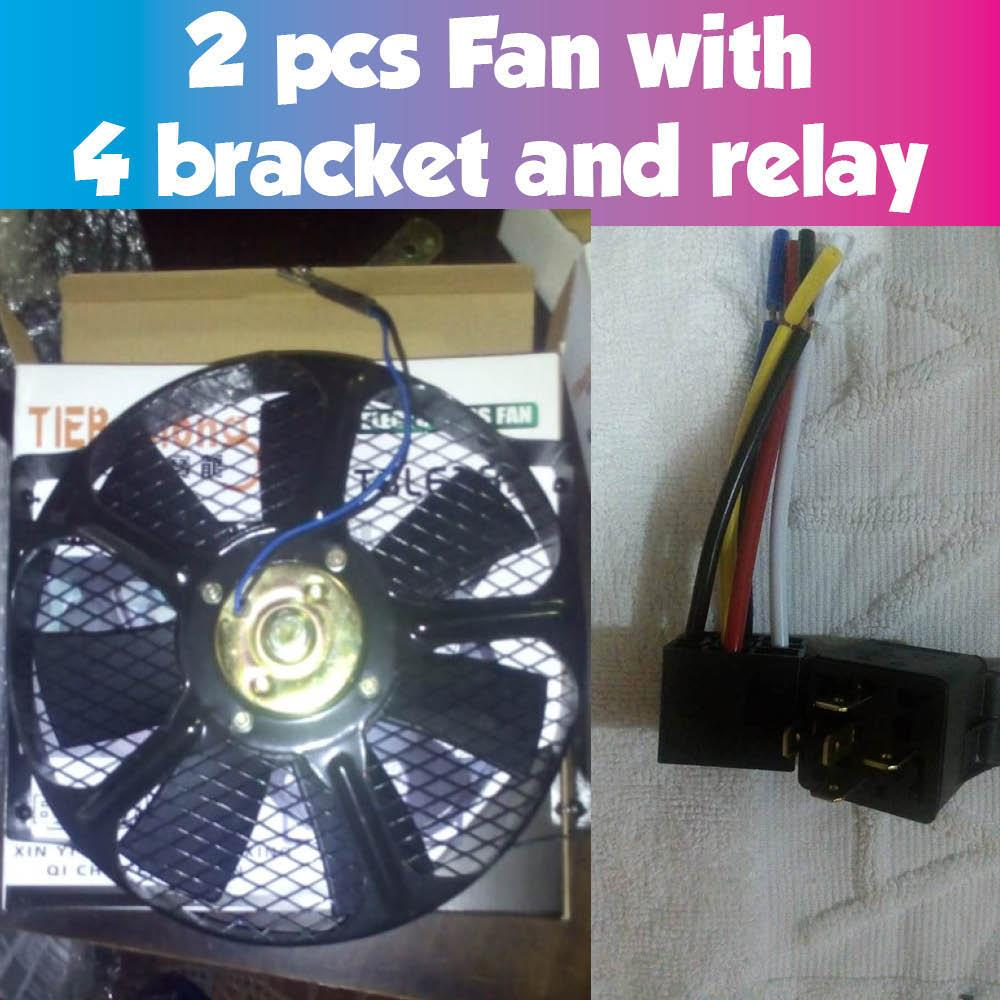 2 pcs aux fan assembly, double bearing , Universal, Condenser or Radiator  fan 12V