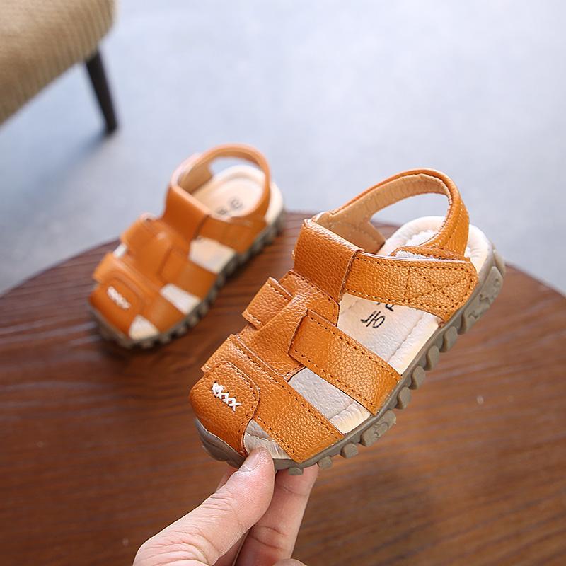 91ba7c36e45265 2018 Summer New Style boy men Sandals Closed-toe Anti-Play Gladiator Sandals  Korean