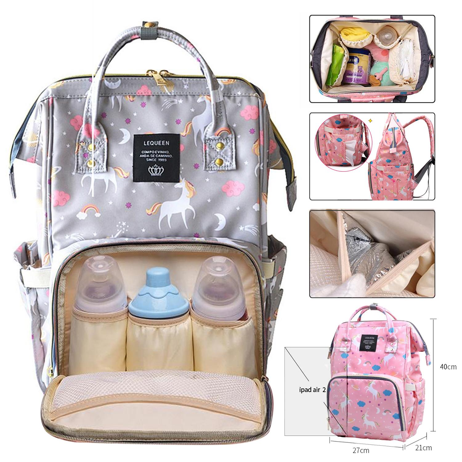 26596c00cd Unicorn Diaper Bag Mommy Bag Nappy Bag Mummy Bag Diaper Backpack Nursing Bag  Multi-Functional