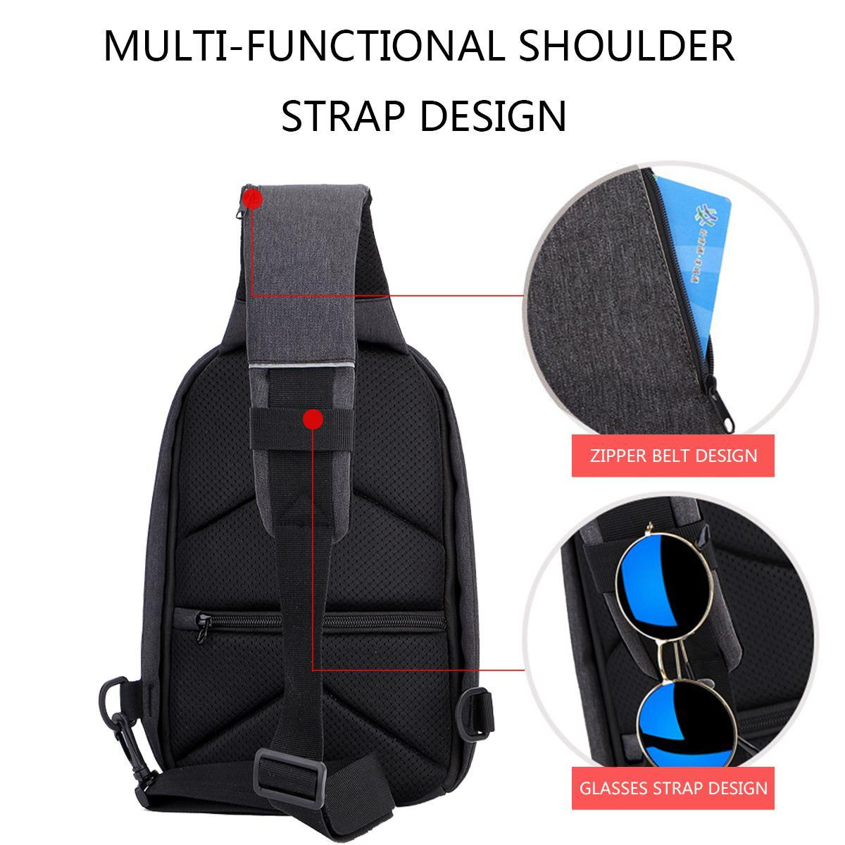303a5898bda3 Teekeer Sling Backpack For Men Women With USB Charging Port, Anti Theft  Travel Sholder Bag Crossbody Chest Bags, Sling Backp Pack Purse For Hiking  ...