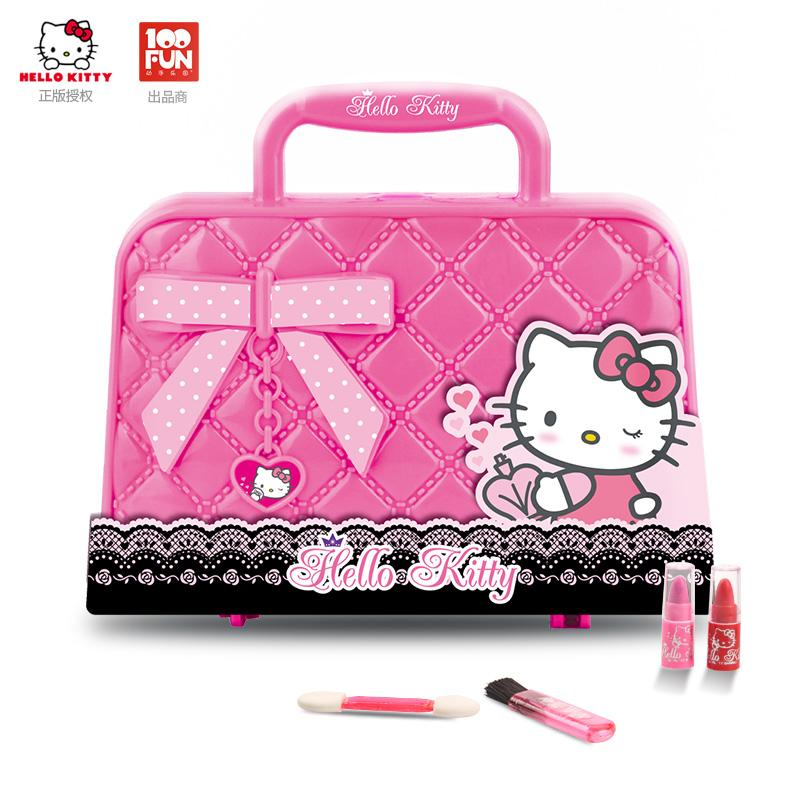 Hello kitty Children Makeup Set Princess Gift Box Non-toxic Cosmetics Play  House Toys girl 0ef3bed37800d