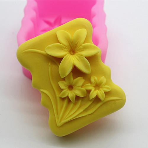 C382 Fat Soap Mold With/handmade Soap Mold/silicone Mould/fragrant Soap Mold/silicone Soap Mold Daffodils Mode By Taobao Collection.